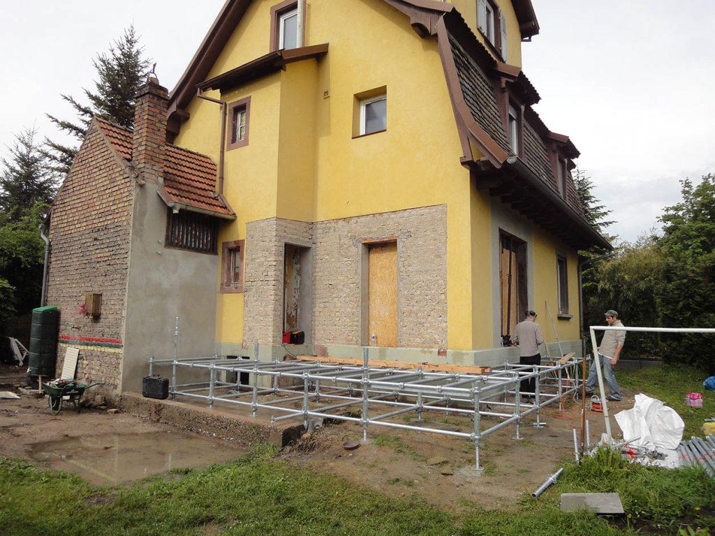 maison échafaudage